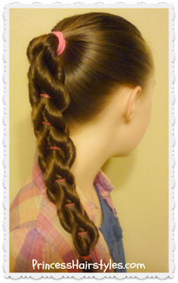 Twisted pull-through braid video tutorial