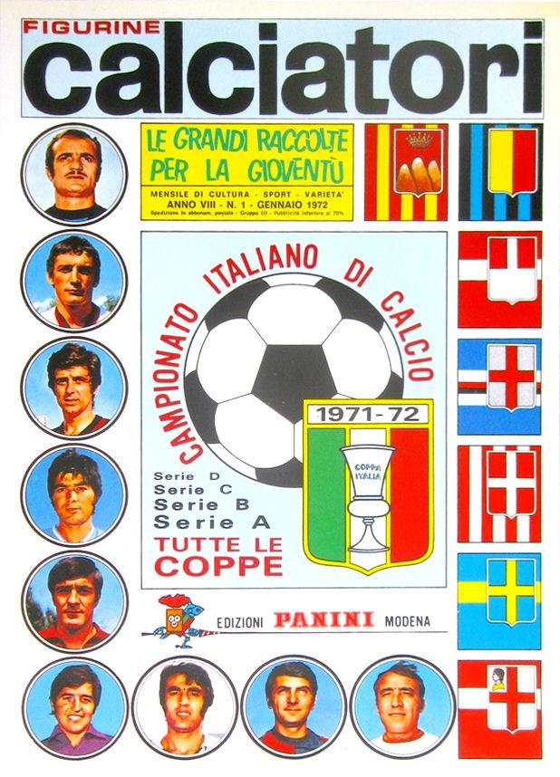 LL FIGURINA CALCIATORI PANINI 1971//72 IDENTIQUIZ NUMERO 19