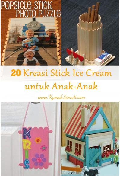 20 Kreasi Stick Ice Cream untuk Anak-Anak