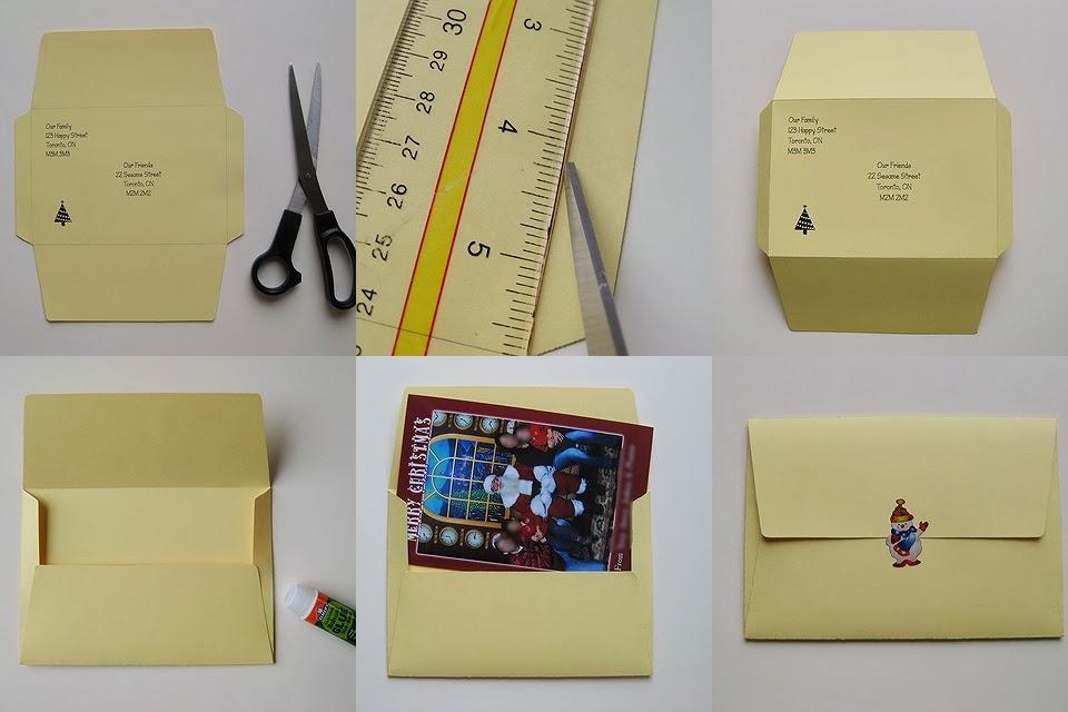 My Handmade Home Tutorial DIY 4x6 Envelope for Mailing Photos
