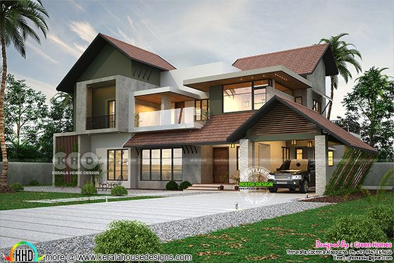 Sweet Modern Kerala home design