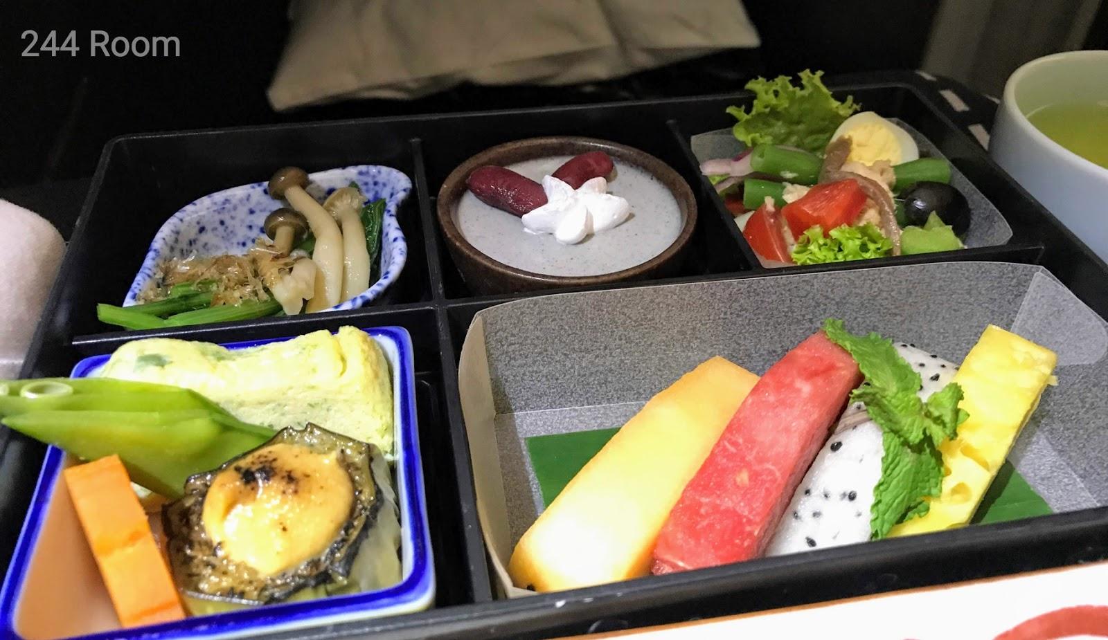JALビジネスクラスシート機内食4 Business class flight meal