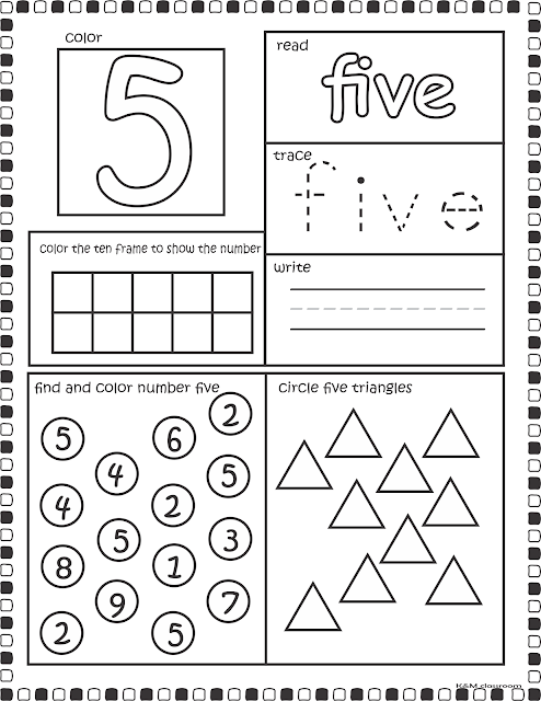 Number Spelling  Worksheets