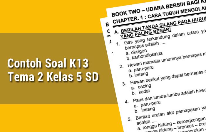 Contoh Soal K13 Tema 2 Kelas 5 SD