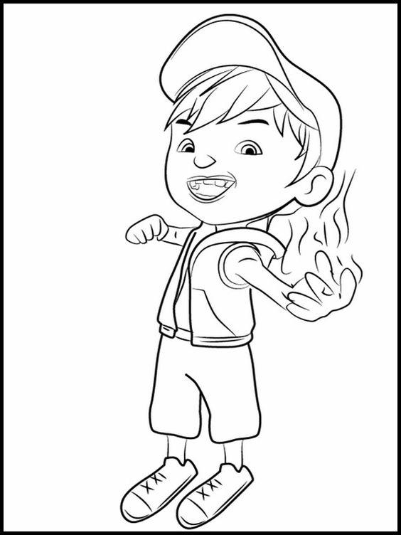 Tranh cho bé tô màu BoBoiBoy 2