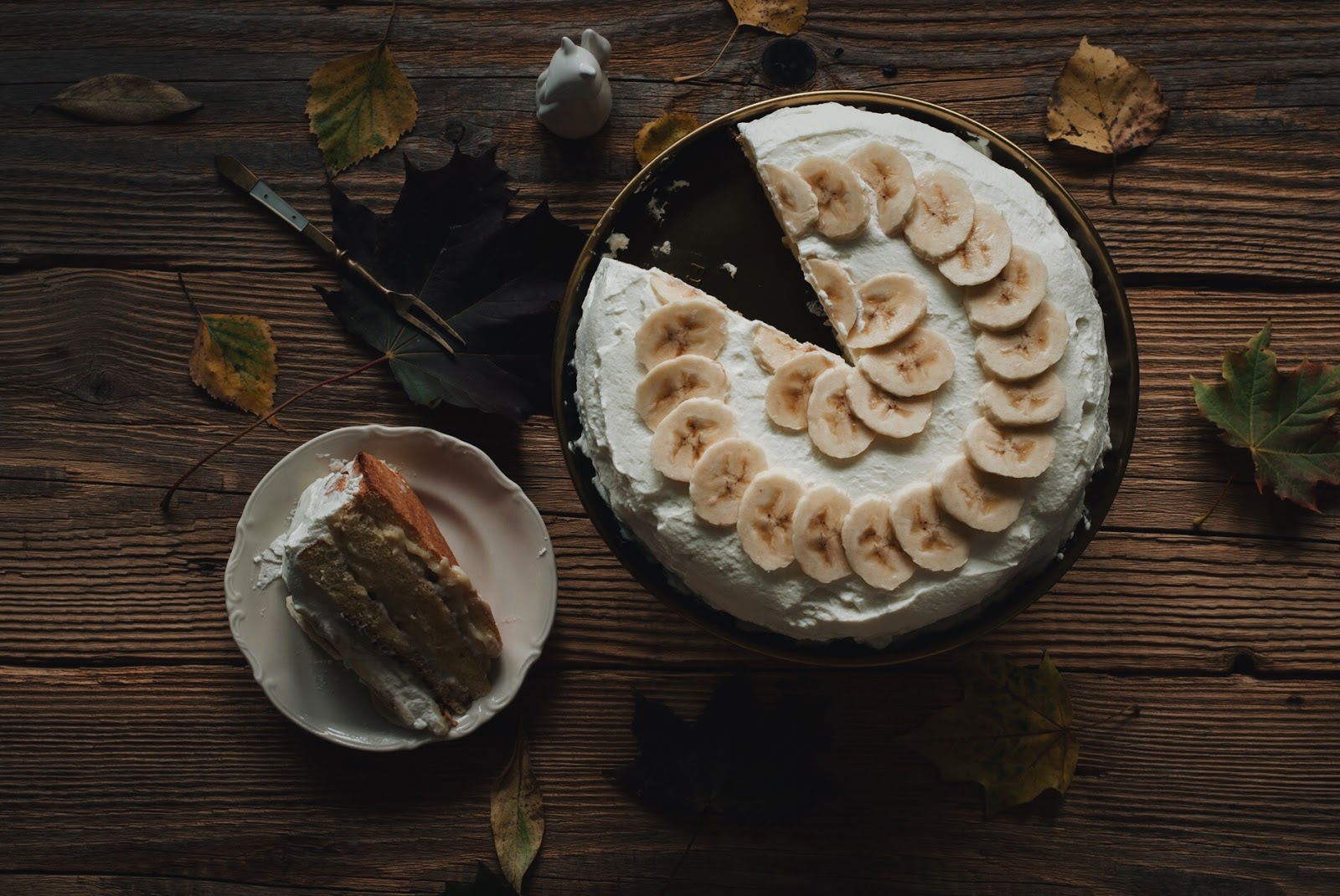 Tort bananowy z mlekiem skondensowanym