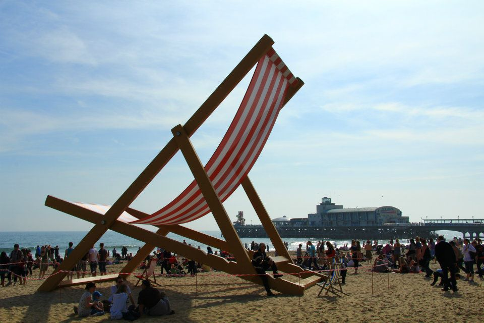 Bournemouth Huge Deck Chair On Beach Have You Seen The
