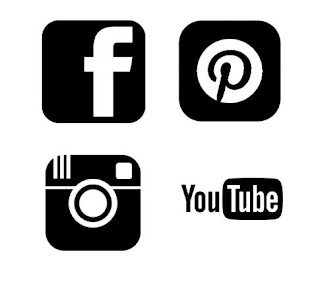 Pinterest, Facebook, Instagram and Youtube - Free SVG logo Download