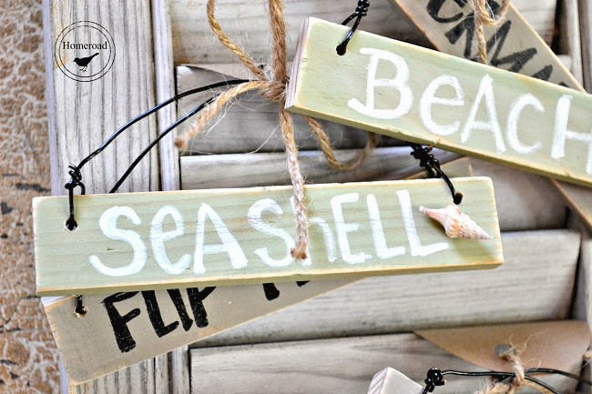 Mini ornament signs Coastal decor