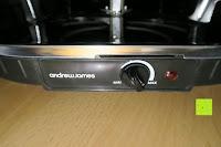 Schalter: Andrew James – Traditioneller Raclette Grill für 8 Personen mit thermostatischer Hitzekontrolle – Inklusive 8 Raclette-Spachteln – 2 Jahre Garantie