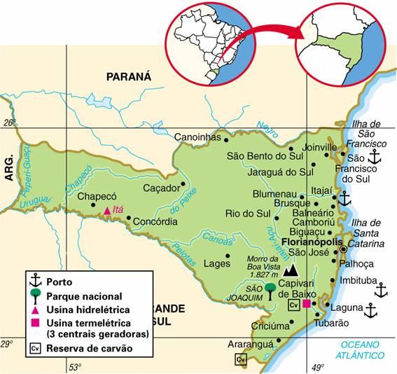 Santa Catarina | Aspectos Geográficos e Socioeconômicos do Estado de Santa Catarina