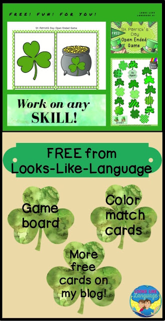 Happy St. Paddy's Day freebie set from Looks-Like-Language