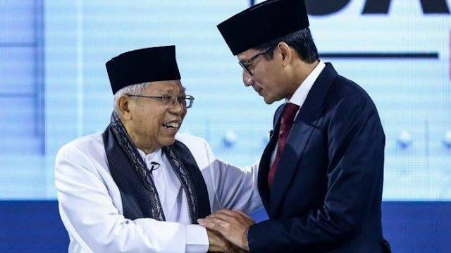 Survei PoliticaWave: Kiai Ma'ruf Amin Unggul Mutlak dari Sandiaga