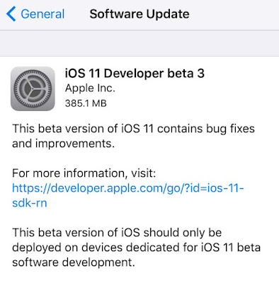 Apple releases iOS 11 beta 3 to developers. Here's How To Download and install iOS 11 beta 3 without Developer Account on iPhone, iPad or iPod Touch