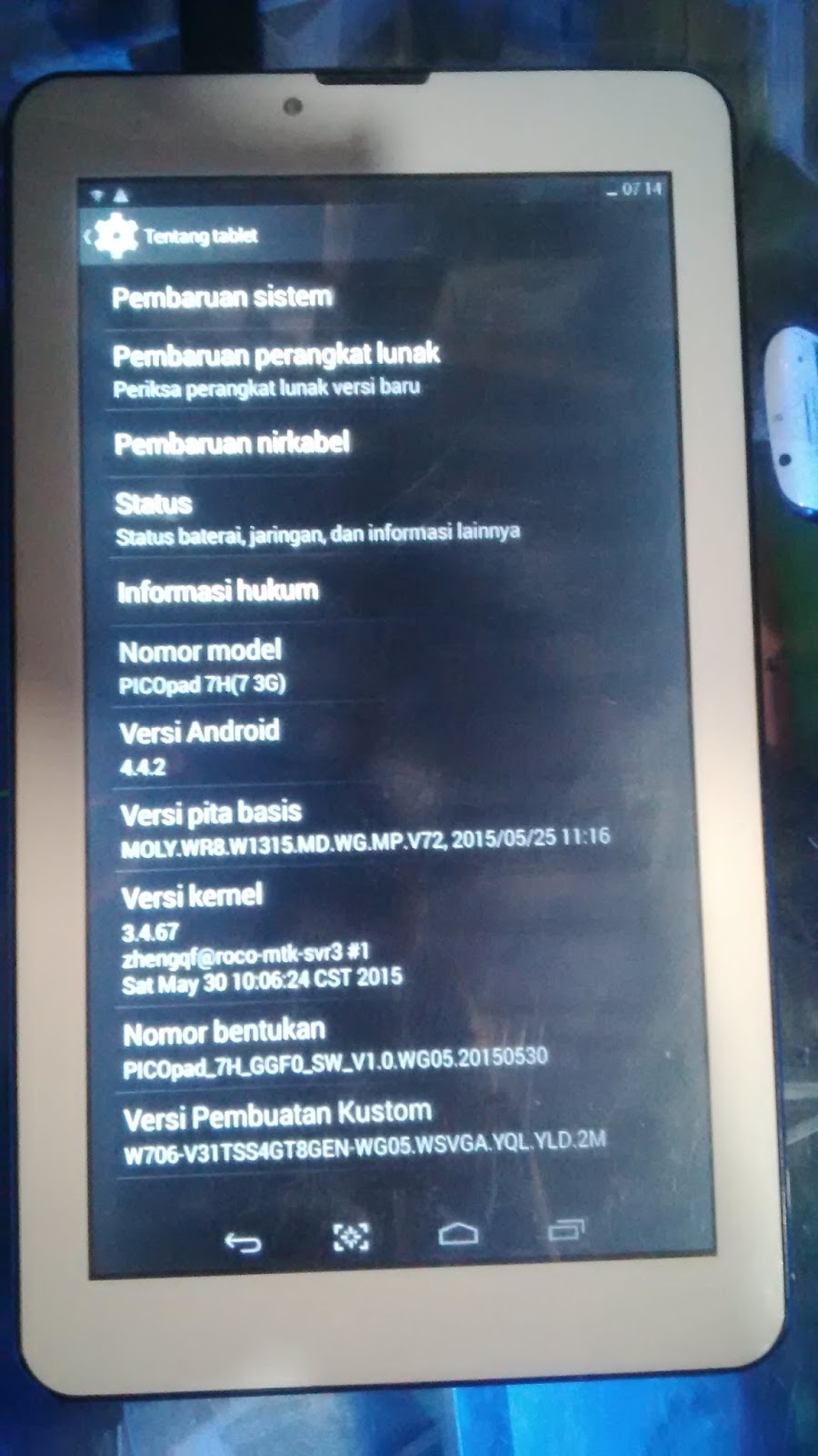 Harga Dan Spek Cyrus Tvpad Slim 3g Wifi Update 2018 Paket Shampo Syoss Oleo Intense 190ml 2 1 Software April 2017 Model Number Picopad 7h7