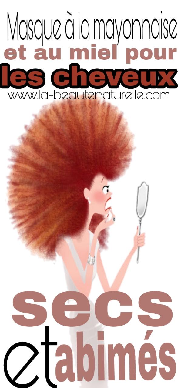 Masque à la mayonnaise et au miel pour les cheveux secs et abimés