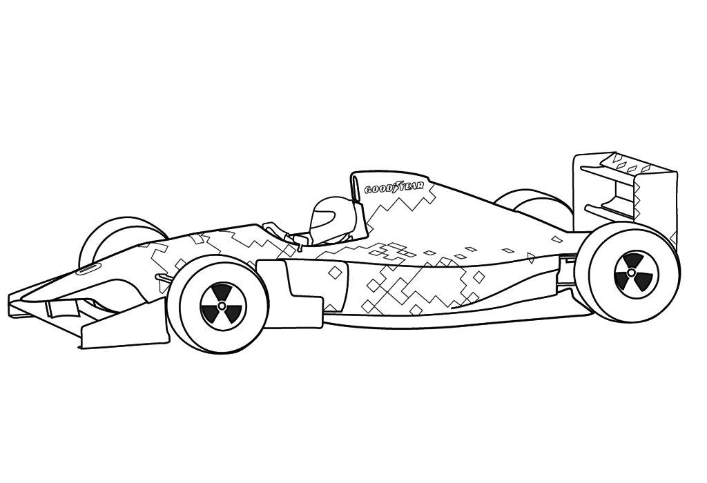gambar mewarnai gambar mobil balap untuk anak