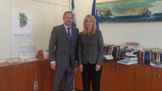 Συνάντηση της Περιφερειάρχη Αττικής Ρένας Δούρου με τον Γάλλο Πρέσβη