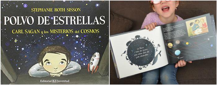 cuentos infantiles, libros conocimientos informativos polvo estrellas carl sagan