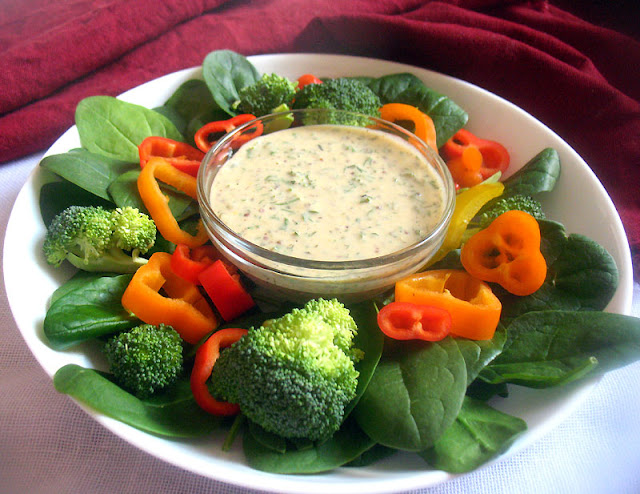 Creamy Tahini Lemon Dressing with Fresh Herbs