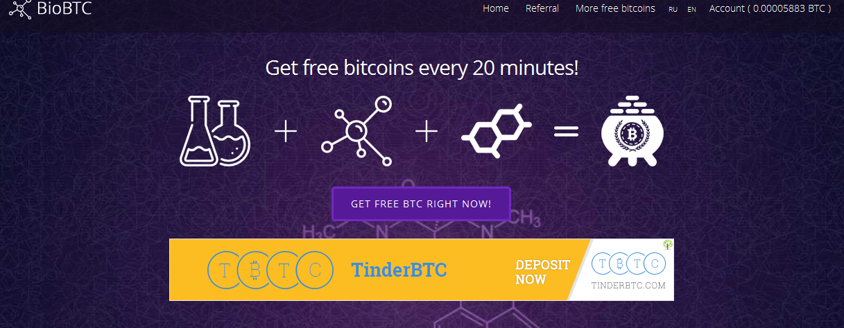 Earn Bitcoins For Every 20 Minutes At Biobtc Net Blogshouters -