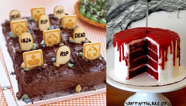 bolos com tema de dia das bruxas