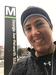 Photo of me in front of Georgia Ave Petworth station
