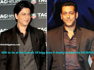 SRK to Promote Dilwale At Launch Of bigg boss 9 double trouble - bigg boss 9 first episode