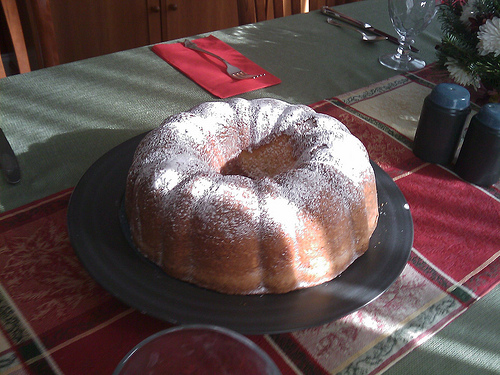 A Whole Rum Baba Cake Waiting To Be Soaked In Rum