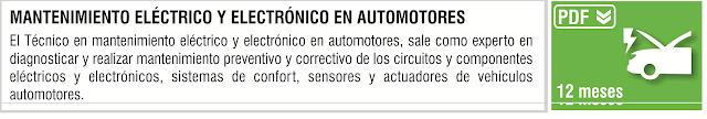 MANTENIMIENTO ELÉCTRICO Y ELECTRÓNICO EN AUTOMOTORES