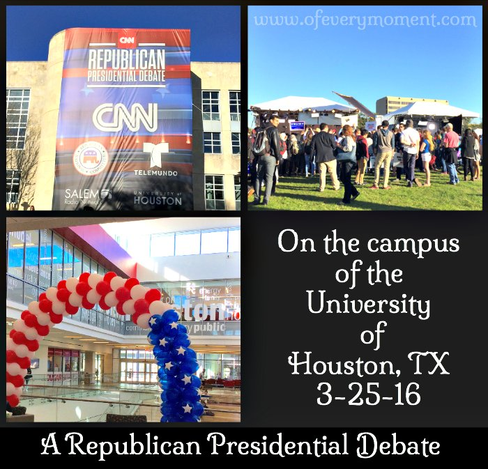 A Republican Presidential debate was being held at U. of Houston while we were there.