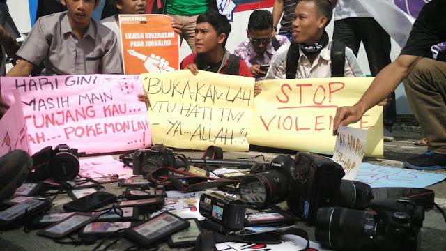 Oknum TNI AU Pukul Wartawan, Jurnalis di Banda Aceh Kirim Doa