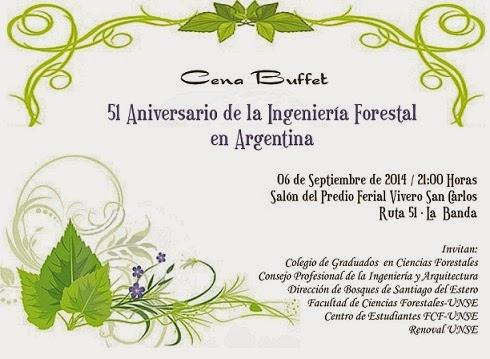 El Forestal Recordatorio Invitación Cena Fiesta