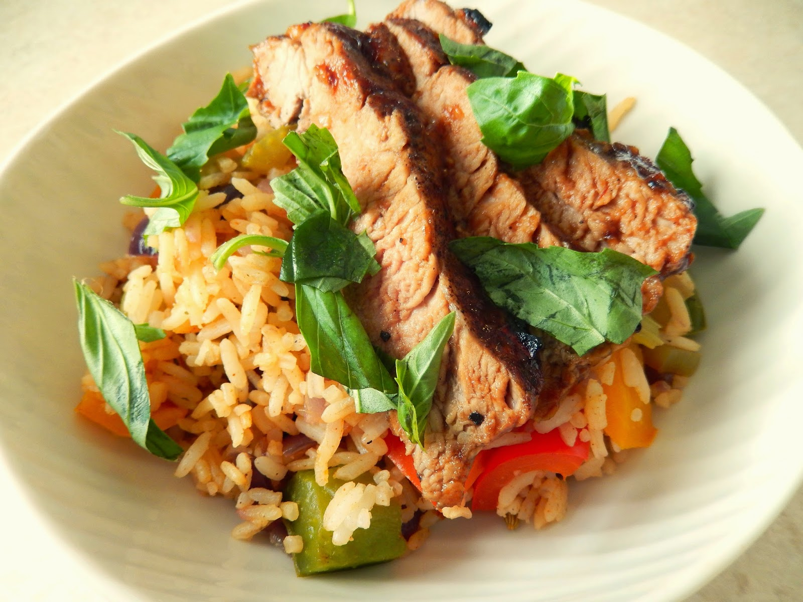 my back pages: jamie's fifteen minute meals - glazed pork tenderloin with cajun-style pepper ...