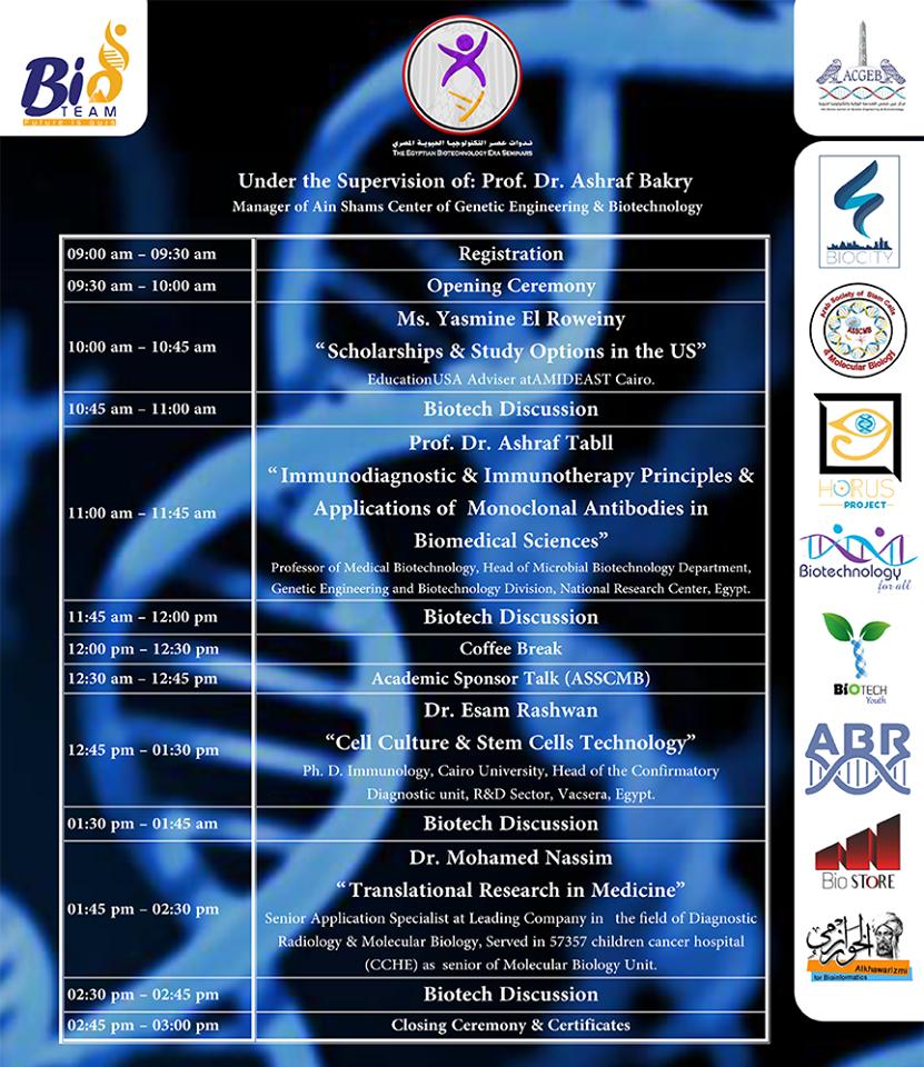 The Egyptian Biotechnology Era Seminar | EBES 2017 (Vol.1)
