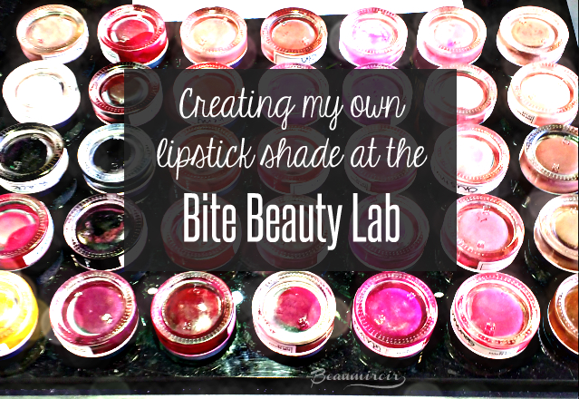 My experience at the Bite Lip Lab: creating my unique shade of lipstick!