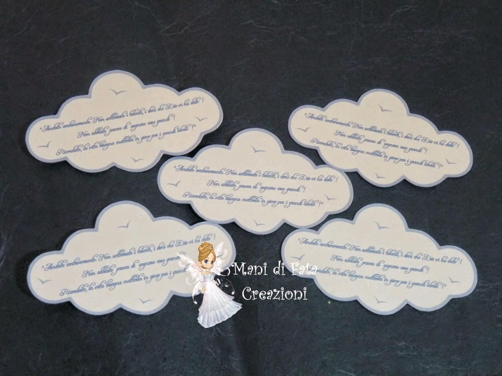 Popolare Mani di Fata Creazioni: Segnaposti nuvoletta IS65