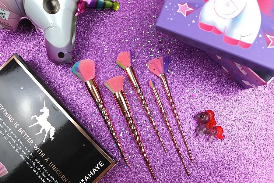 Glam Shine Beautyblog Lahaye Unicorn Make Up Pinsel Set Bei Dm