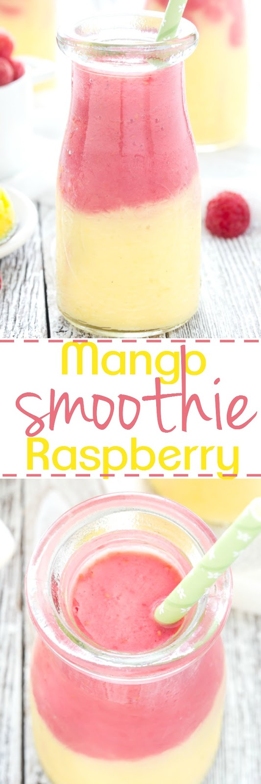 Mango Raspberry Sunsine Yogurt Smoothie