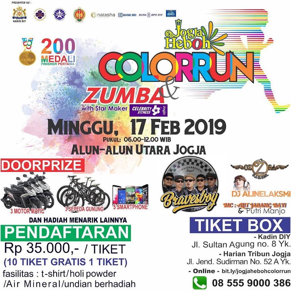 Jogja Heboh Color Run • 2019