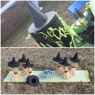 witch broom ring toss game
