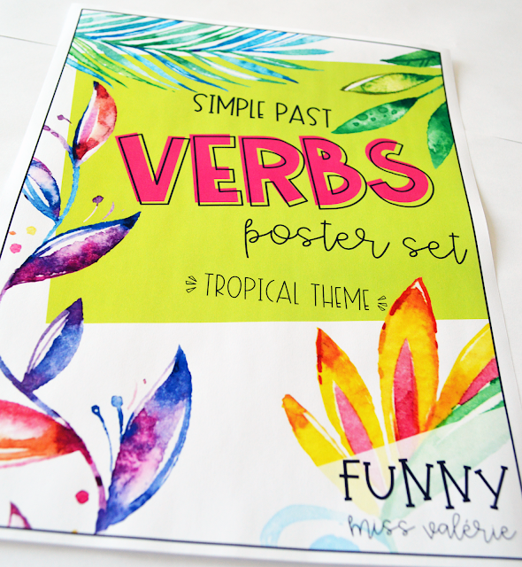 https://www.teacherspayteachers.com/Product/Verbs-Poster-Set-Tropical-Theme-Simple-Past-4032275