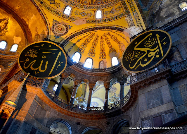 the magnificent dome of Hagia Sophia Istanbul Turkey