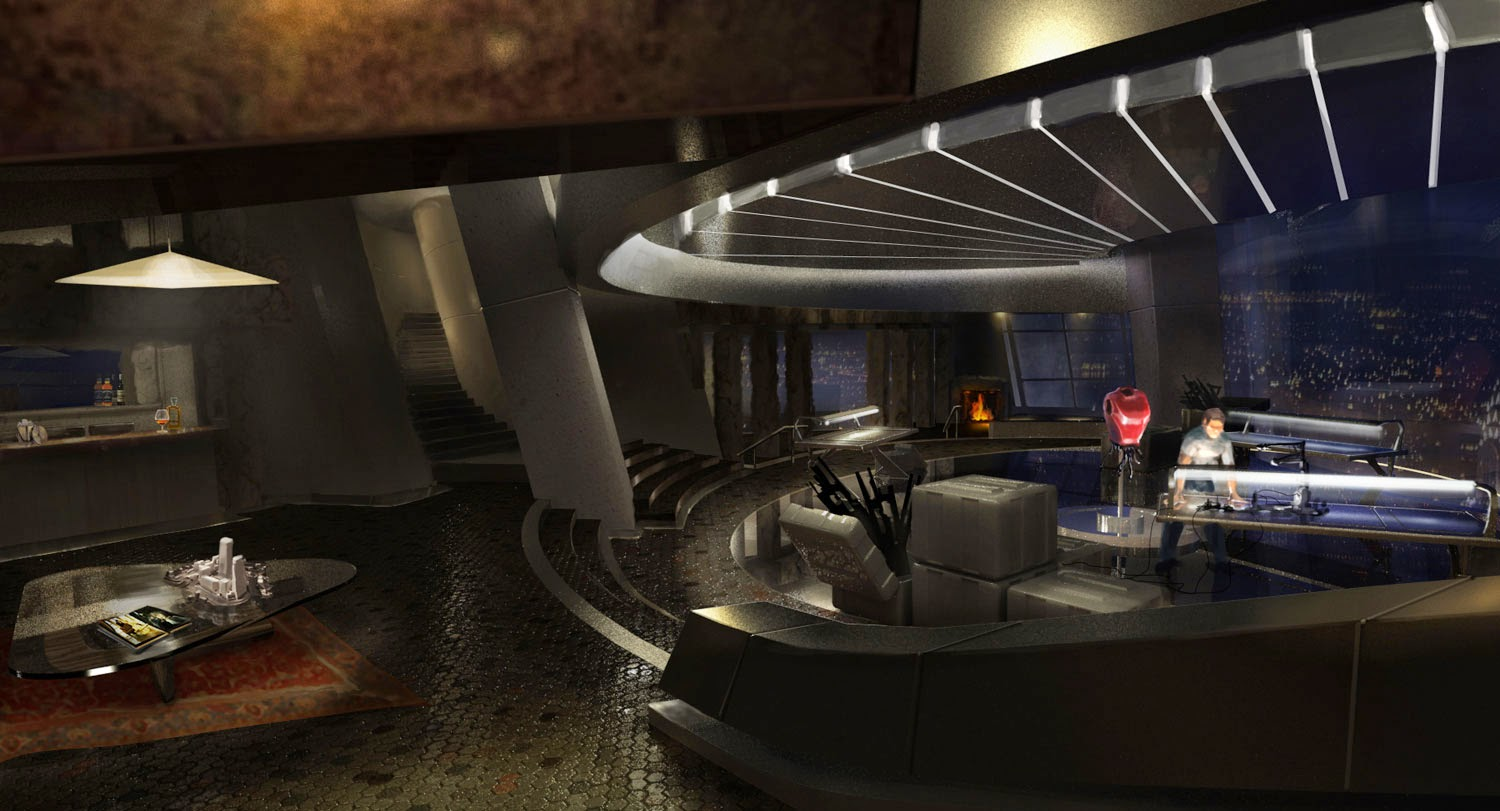 Unused Tony Stark Apartment Designs in AVENGERS Concept ...