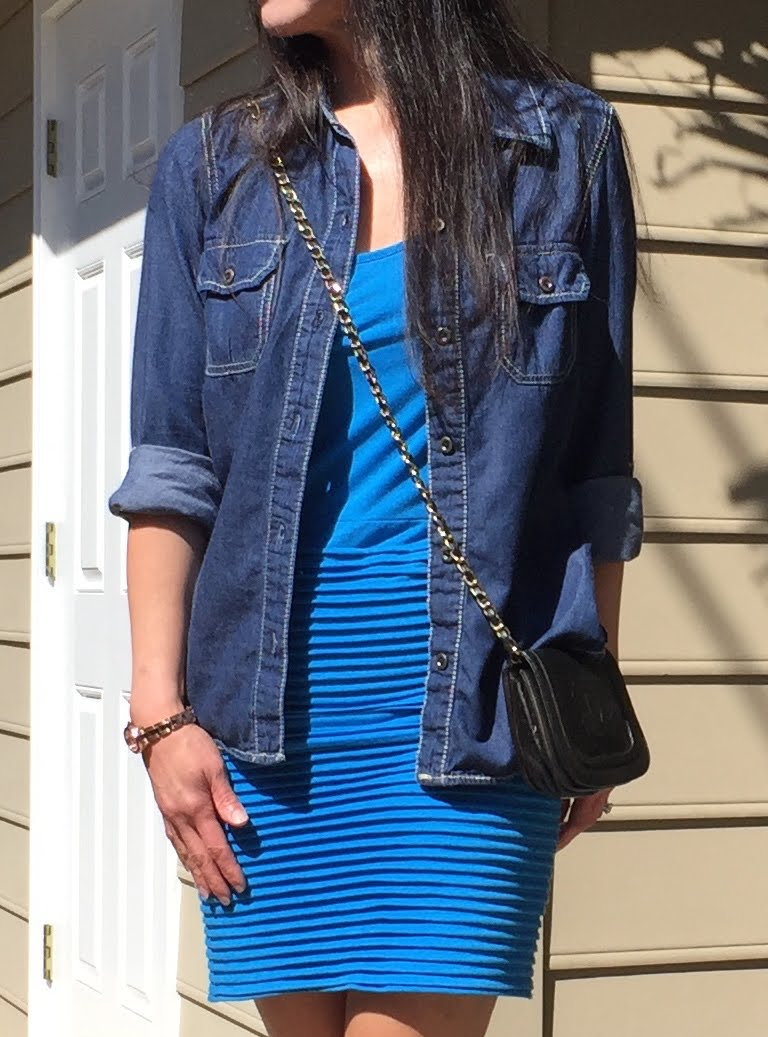 Blue and Jean Outfit - Close Up.