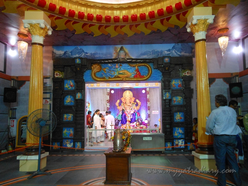 The entire pandal at Andhericha Raja Ganesha pandal, Mumbai