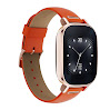 ASUS ZenWatch 2 Rose Gold with Orange Leather Strap 37mm Smart Watch with Quick Charge Battery, 4GB Storage, 1.45-inch AMOLED Gorilla Glass 3 TouchScreen, IP67 Water Resistant