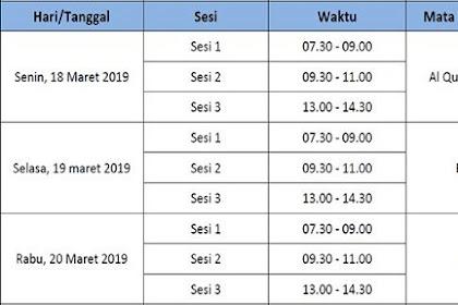 Jadwal UAMBN MTs Tahun 2018/2019