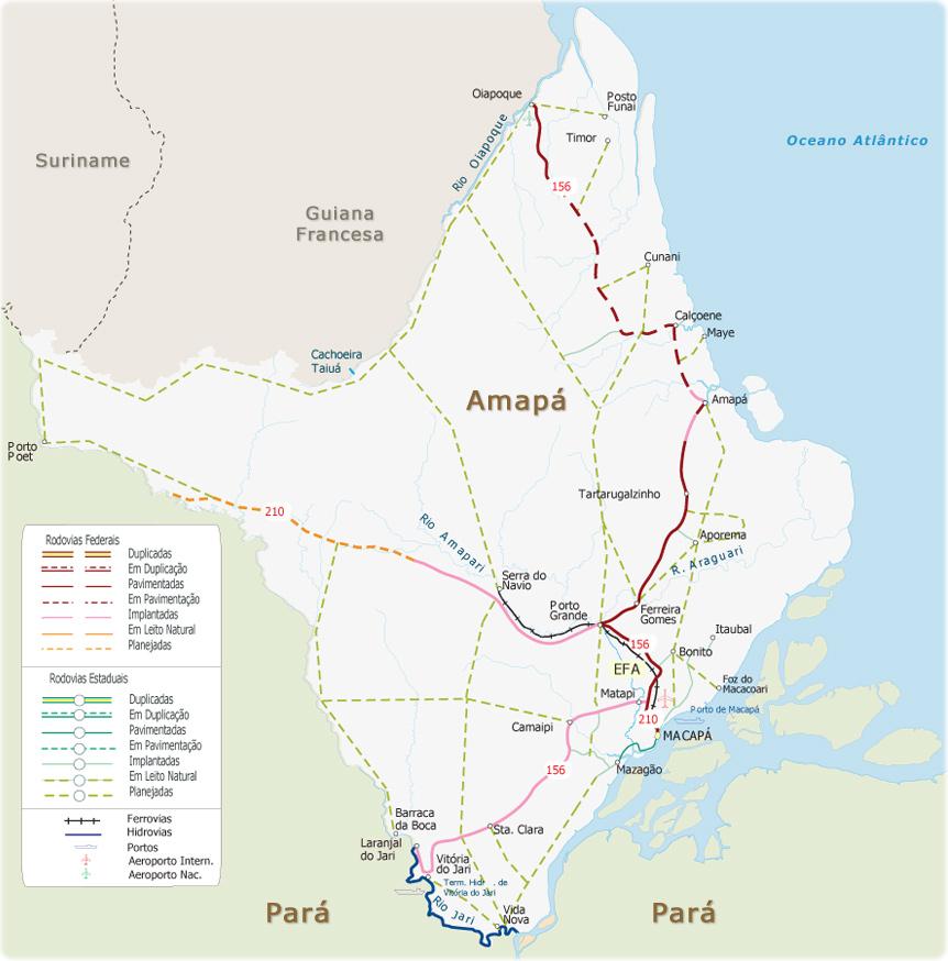 Mapas do Amapá