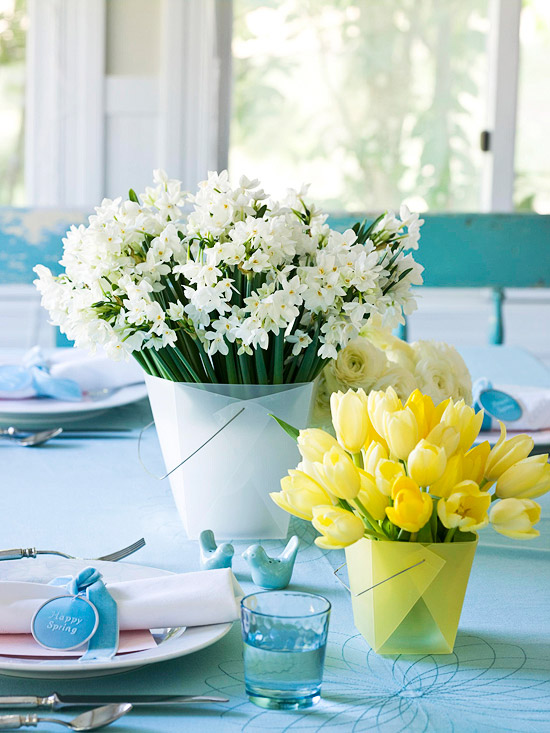 Spring means a lighter and brighter kind of gathering than its cozy winter counterpart, and your centerpiece should reflect that. Keep things light, airy and consider the available materials during this time of the year. Here are 26 beautiful spring centerpiece ideas to .